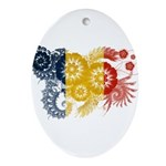Romania Flag Ornament (Oval)