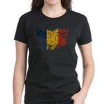 Romania Flag Women's Dark T-Shirt