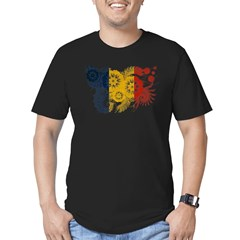 Romania Flag Men's Fitted T-Shirt (dark)