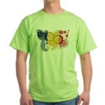 Romania Flag Green T-Shirt
