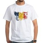 Romania Flag White T-Shirt