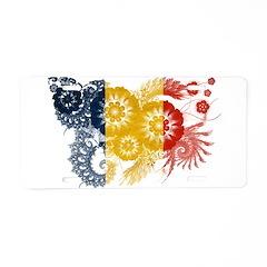 Romania Flag Aluminum License Plate