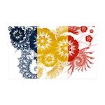 Romania Flag 38.5 x 24.5 Wall Peel