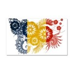 Romania Flag Car Magnet 20 x 12