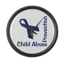 Child Abuse Prevention Large Wall Clock