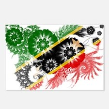 Saint Kitts Nevis Flag Postcards (Package of 8)