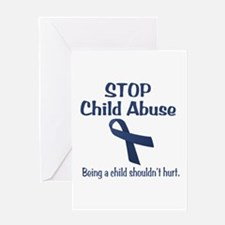 Stop Child Abuse It Hurts Greeting Card