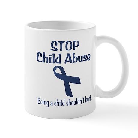 Stop Child Abuse It Hurts Mug