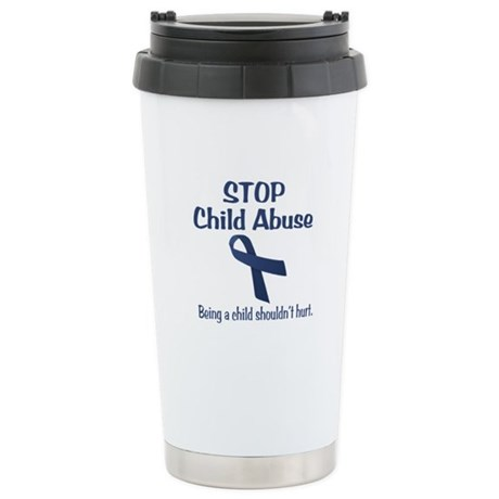 Stop Child Abuse It Hurts Stainless Steel Travel M
