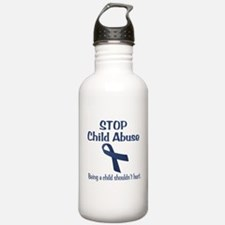 Stop Child Abuse It Hurts Water Bottle
