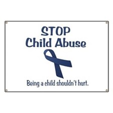 Stop Child Abuse It Hurts Banner