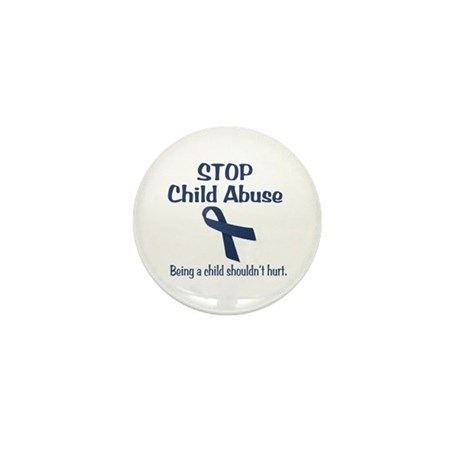Stop Child Abuse It Hurts Mini Button (10 pack)