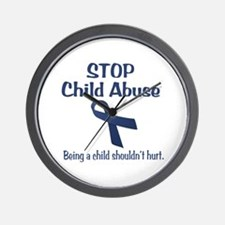 Stop Child Abuse It Hurts Wall Clock
