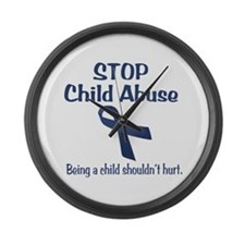 Stop Child Abuse It Hurts Large Wall Clock