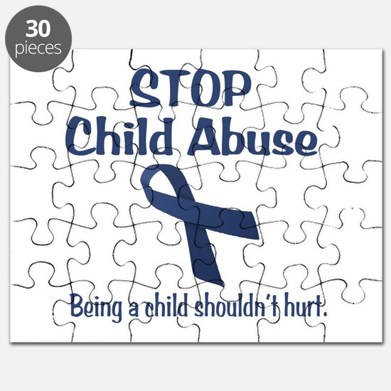 Stop Child Abuse It Hurts Puzzle