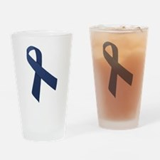 Blue Ribbon Drinking Glass