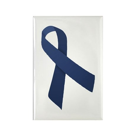 Blue Ribbon Rectangle Magnet