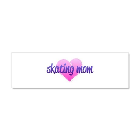 Skating Mom 2 Car Magnet 10 x 3