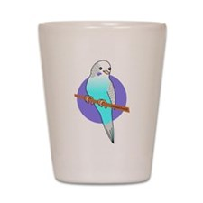 Blue Budgie Shot Glass
