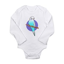 Blue Budgie Long Sleeve Infant Bodysuit