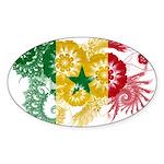 Senegal Flag Sticker (Oval 50 pk)