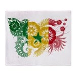 Senegal Flag Throw Blanket