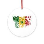 Senegal Flag Ornament (Round)