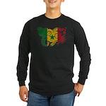 Senegal Flag Long Sleeve Dark T-Shirt