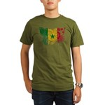 Senegal Flag Organic Men's T-Shirt (dark)