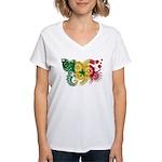 Senegal Flag Women's V-Neck T-Shirt