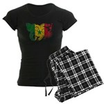 Senegal Flag Women's Dark Pajamas
