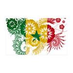 Senegal Flag 38.5 x 24.5 Wall Peel
