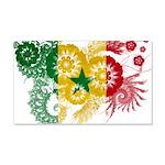 Senegal Flag 22x14 Wall Peel