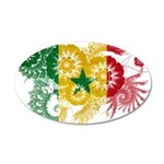 Senegal Flag 38.5 x 24.5 Oval Wall Peel