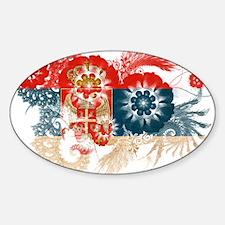 Serbia Flag Sticker (Oval)