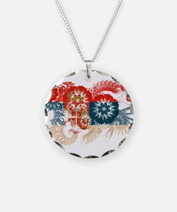 Serbia Flag Necklace