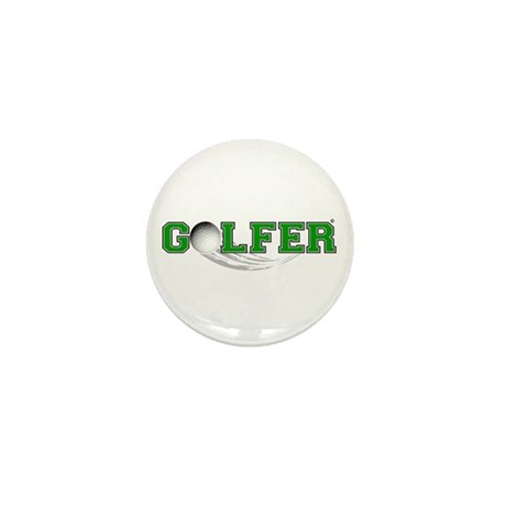 Golfer Mini Button