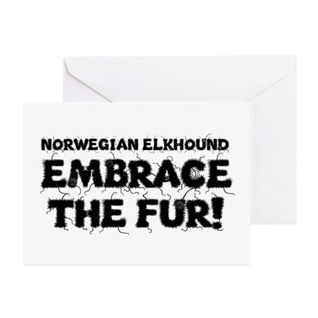 Norwegian Elkhound Greeting Cards (Pk of 10)