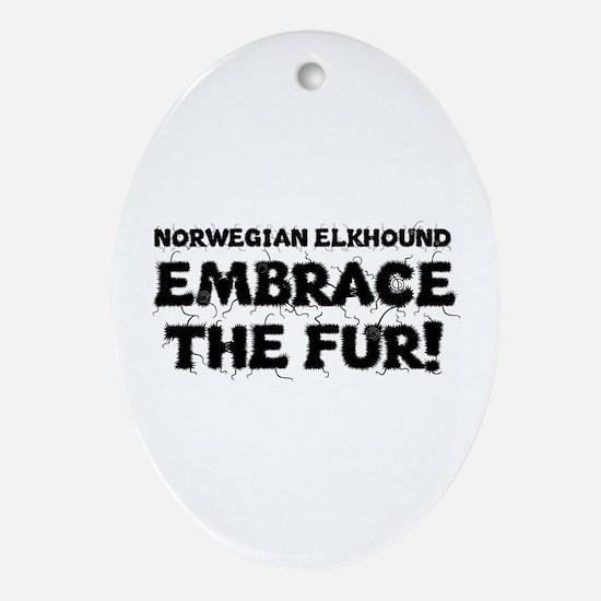 Norwegian Elkhound Ornament (Oval)