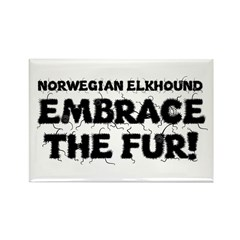 Norwegian Elkhound Rectangle Magnet (10 pack)