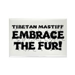 Tibetan Mastiff Rectangle Magnet (10 pack)
