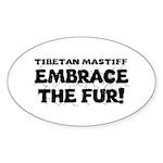 Tibetan Mastiff Sticker (Oval 10 pk)