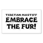 Tibetan Mastiff Sticker (Rectangle 50 pk)