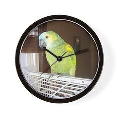 Amazon Parrot/ Nanette Wall Clock