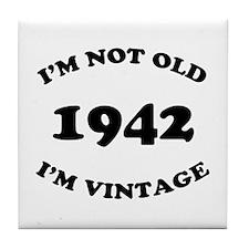 1942 Not Old, Vintage Tile Coaster