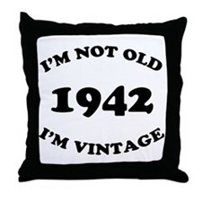 1942 Not Old, Vintage Throw Pillow