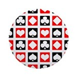 Deck of Cards Ornament (Round)