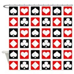 Deck of Cards Shower Curtain