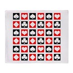Deck of Cards Throw Blanket