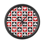 Deck of Cards Large Wall Clock